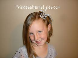 How To Do A Cute Hairstyle For Short Hair by Ribbon Lacing For Short Hair Princess Hairstyles How To