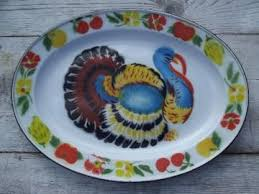 ceramic turkey platter antique and vintage platters