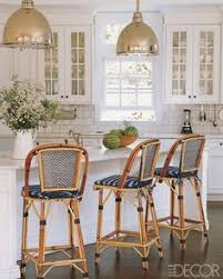 Navy Bistro Chairs Kitchen Stool Naturallycane Rattan And Wicker Furniture