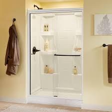 Delta Shower Doors Delta Simplicity 48 In X 70 In Semi Frameless Sliding Shower