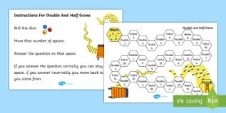 doubling u0026 halving early years eyfs double half page 1