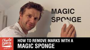 how to remove marks from walls with a magic sponge youtube