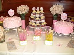 Baby Shower Sweets And Treats Pink Baby Shower Dessert Table Pink Baby Shower Candy Table Ideas