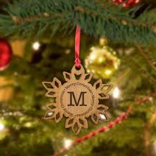 personalized christmas tree ornaments monogram online