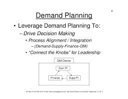integrated demand planning s u0026op biel 09 19 11
