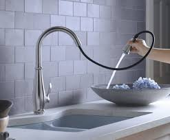 Stainless Faucets Kitchen by Kitchen Accessories Kohler Wall Mount Karbon Pull Out Faucet And