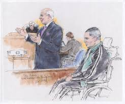 courtroom sketch of tom girardi part of new library of congress