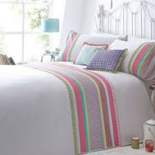 Thomas Single Duvet Cover At Home With Ashley Thomas White U0027ivy U0027 Multi Striped Panel Bedding