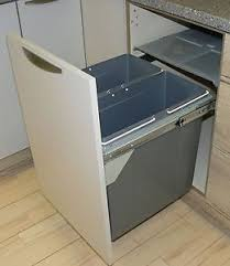 kitchen cabinet waste bins pull out kitchen cabinet integrated recycle waste bin 500mm 68 ltr