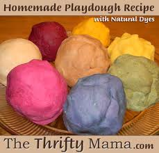homemade playdough recipe with natural dyes natural thrifty