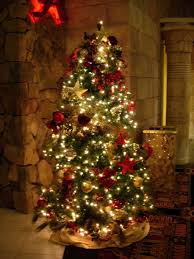 How To Decorate A Christmas Tree With Ribbon Garland Stunning Christmas Tree Decorating With Ribbon Garland On With Hd