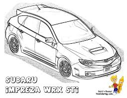 powerful car printables subaru impreza wrx sti wow http www