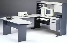 Bestar U Shaped Desk U Shape Computer Desk Center Hutch Bridge Peninsula Table