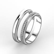 fancy wedding rings wedding rings 3d print model cgtrader