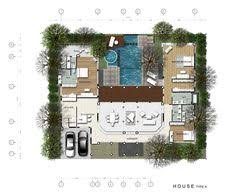 U Shaped House Plans With Courtyard U Shaped House Plans With Pool Astonishing U Shaped House Design