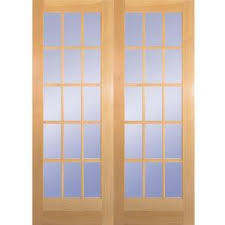 home depot doors interior wood builder s choice 60 in x 80 in 15 lite clear wood pine prehung