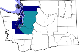 Seattle Area Code Map by Seattle Metropolitan Area Wikipedia