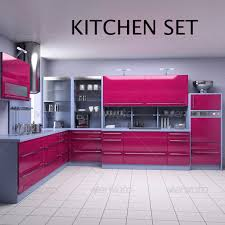 kitchen set p2 by humster3d 3docean