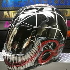 custom painted motocross helmets spiderman motorcycle helmets