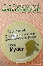 cookies for santa plate diy personalized santa cookie plate sew woodsy