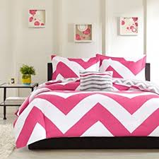Chevron Bedding Queen Amazon Com Mi Zone Libra Comforter Set Full Queen Pink Home