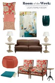 decorating a family room with a leather sofa decorate