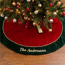 personalized velvet tree skirt