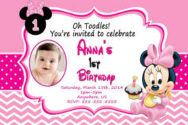 birthday invites marvellous minnie mouse 1st birthday invitations