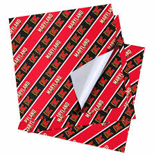 notre dame wrapping paper maryland terrapins 20 x 30 wrapping paper fanatics