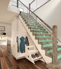 modern storage under stairs med art home design posters