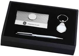 engravable items card ballpoint pen and key chain engravable items gift set