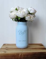 Shabby Chic Wedding Centerpieces by Large Light Blue Mason Jar Half Gallon Mason Jar Shabby Chic