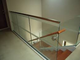 glass stair rail with glass mount railing hardware ot glass