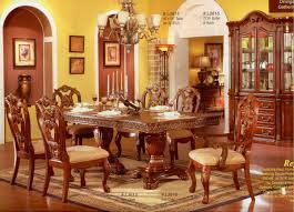 cherry finish classic formal dining room table dining table