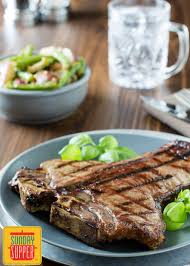 grilled porterhouse steak with foil pouch french onion green beans