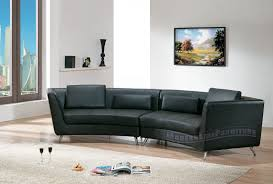 Contemporary Black Leather Sofa Modern Line Furniture Commercial Furniture Custom Made