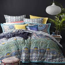 best price linen mandalay aqua by logan u0026 mason quilt covers