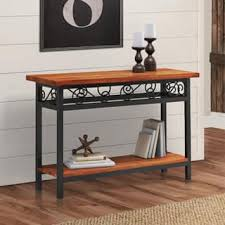 wood and metal sofa table scrolled metal and wood sofa table free shipping today
