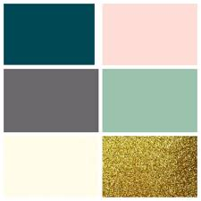 Teal And Gold Bedroom by Perfect House Colours Pantone Deep Teal Alloy Ivory Blush