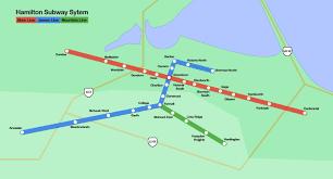 Hamilton Ontario Map Hamilton Subway System If Only Hamilton