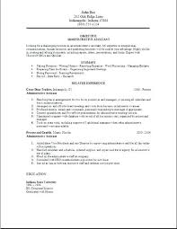 resume for administrative assistant with no experience foodcity me