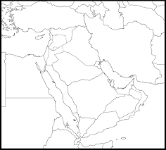 Middle East Map Blank Maps Of Middle East Blank Map Of Middle East Countries