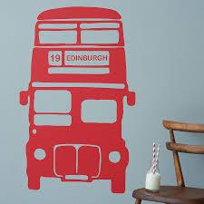 personalised bus vinyl wall sticker by oakdene designs personalised bus vinyl wall sticker