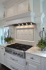 creamy crackle backsplash kitchen traditional with swivel stools