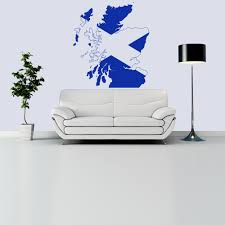 wall stickers iconwallstickers scotland flag cross and name united kingdom wall stickers home decor art decals