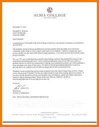 How Does College Acceptance Letter Look Like 3 College Acceptance Letter Sle Quotation Formats