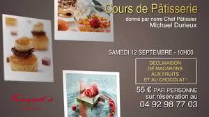 cours cuisine cannes hôtel barrière le majestic cannes cours de pâtisserie septembre