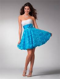 Dresses For Wedding Guests 2011 Prom Dresses 1537 Prom Dresses Blue Blue Shorts And Strapless Dress