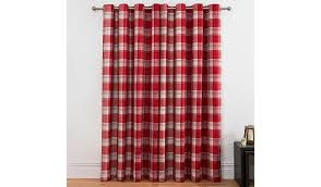 Asda Nursery Curtains Check Woven Lined Curtains Red Home U0026 Garden George