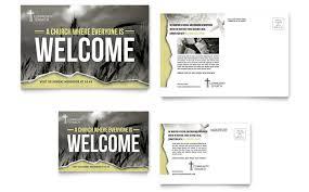 bible church brochure template design